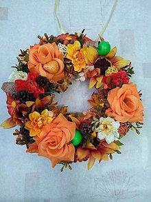 Dekorácie - Jesenný venček na dvere II. - 11208580_