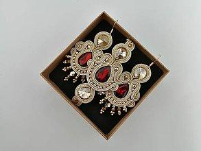 Sady šperkov - Šujtášový set (Hnedá) - 11209074_