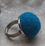 Prstene - plstený retro prstienok petrolejová - 11207097_