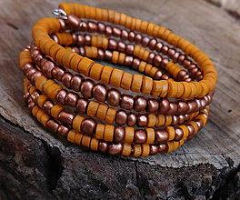 Náramky - kombinovaný drevený náramok - 11206809_