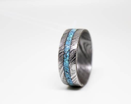 Damaškový prsteň s tyrkysom