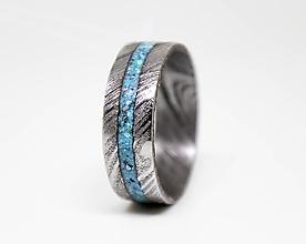 Prstene - Damaškový prsteň s tyrkysom - 11209139_
