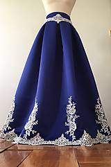 Sukne - slávnostná sukňa Stužková v kráľovsky modrej - 11206529_