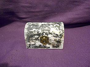 Krabičky - Drevenná šperkovnička - black and white - 11207249_