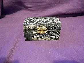 Krabičky - Drevenná šperkovnička - black - 11207261_