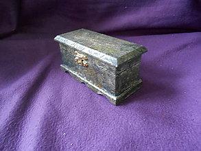 Krabičky - Drevenná šperkovnička silver - 11207307_