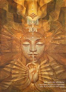 Obrazy - Schody do chrámu (reprodukcia na plátne 50x70 cm) - 11207409_
