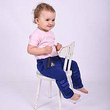Detské oblečenie - Detské zateplené tepláky - moonrise dark blue - 11207765_