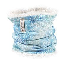 Detské doplnky - Zimný detský tunel-lace mint blue - 11209910_