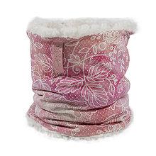 Detské doplnky - Zimný detský tunel-lace pink salmon - 11209931_