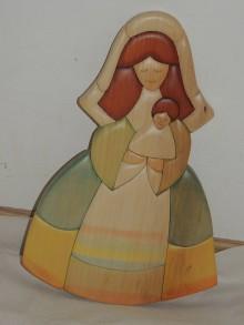 Obrazy - dievčatko s dieťaťom - 11208334_