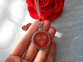 Sady šperkov - Medovníkové srdce - 11208772_