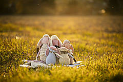 Hračky - Ovka nohatá s mosadznou rolničkou a mašľou (Béžová-staroružové-telové- bodkované ružové hnátiky) - 11208673_