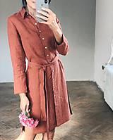 Šaty - Dámske ľanové košeľové šaty STELLA - 11207362_