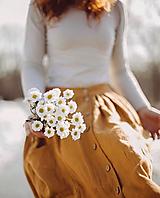 Sukne - Dámska ľanová sukňa na gombíky - 11207625_