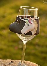 Nádoby - Darčekový pohár na víno - Jednorožec - 11209449_