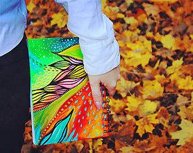Papiernictvo - Farby v pohybe - skicár, zápisník A5 - 11209846_