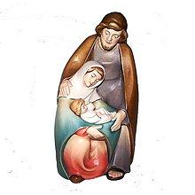 Dekorácie - Svätá rodina - Vianočná dekorácia - 11207447_