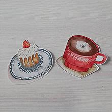 Grafika - Čaj o piatej (Sada 2 vinylových nálepiek) - darček, nálepky, - 11209757_