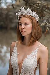 """Ozdoby do vlasov - Svadobná korunka """"tak krásne čistá"""" - 11208543_"""