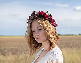 """Ozdoby do vlasov - Kvetinový venček """"ukradnuté srdce"""" - 11208525_"""
