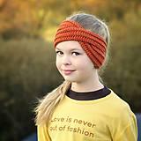 Ozdoby do vlasov - Krížená merino čelenka škoricová skladom - 11209321_