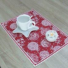 Úžitkový textil - RADANA červeno-biele Vianoce - vianočné prestieranie 28X40 - 11206561_