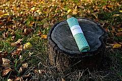 Úžitkový textil - Voskovaný obrúsok Voskáč 33x33cm (modrásek) - 11209373_