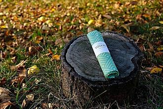 Úžitkový textil - Voskovaný obrúsok Voskáč 53x43cm (modrásek) - 11209361_
