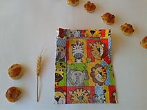 Úžitkový textil - Vrecúško na drobné pečivo - MINI - ZOO - 11208145_
