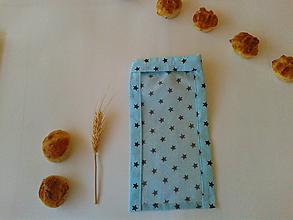 Úžitkový textil - Vrecúško na rožtek - modré - 11209735_