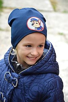 Detské čiapky - Pružná čiapka aplikácia psík - 11209916_