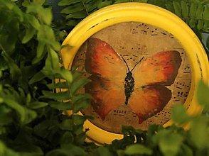 Rámiky - Dekoračný rámik - motýlie krídla jeseň - 11207072_