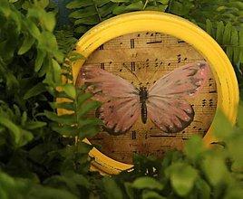 Rámiky - Dekoračný rámik - motýlie krídla leto - 11207099_