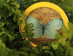 Rámiky - Dekoračný rámik - motýlie krídla zima - 11207104_