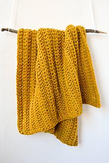 Textil - .detská deka (100% vlna) horčicová - 11206860_