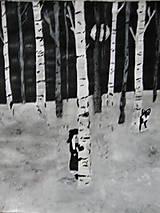 Obrazy - V zimnom lese alebo  Dcéra snehu.... - 11208539_