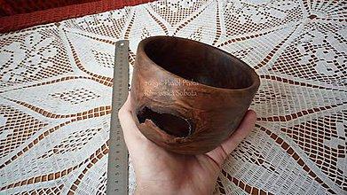Nádoby - Minimiska z dreva (Orech) - 11207942_