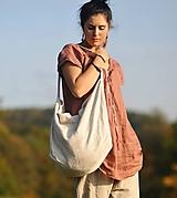 Veľké tašky - Velká lněná taška - 11209630_