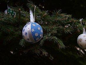 Dekorácie - Vianočné gule -sada /10 kusov/ - 11209213_