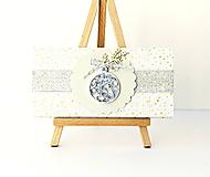 Papiernictvo - vianočná darčeková obálka - 11209718_