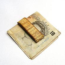 Tašky - Drevená spona na peniaze - agátová - 11208274_
