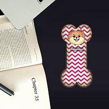 Papiernictvo - Psia záložka do knihy - cik cak - 11207996_