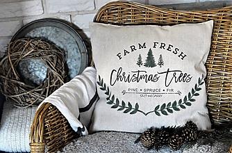Úžitkový textil - Vianočný poťah na vankúš - 11207236_