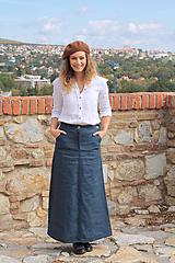 Sukne - Ľanová sukňa Vera - 11211856_