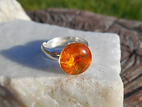 Prstene - sun in ring-jantár-prsteň - 11213615_