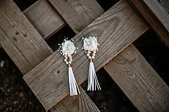 Náušnice - Svadobné kvetinové naušnice - 11209995_