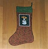Čižma vianočná/mikulášska - rôzne varianty (so snehuliakom)