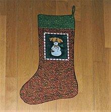 Dekorácie - Čižma vianočná/mikulášska - rôzne varianty (so snehuliakom) - 11211288_