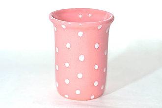 Nádoby - Ružový pohár na kefky - 11210804_